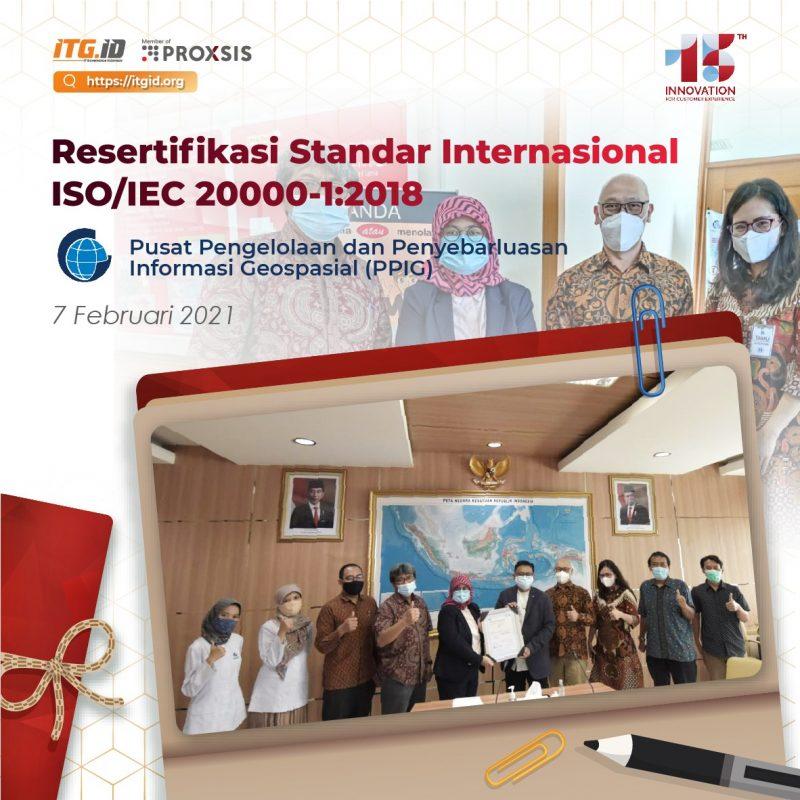Resertifikasi PPIG ISO/IEC 20000-1:2018